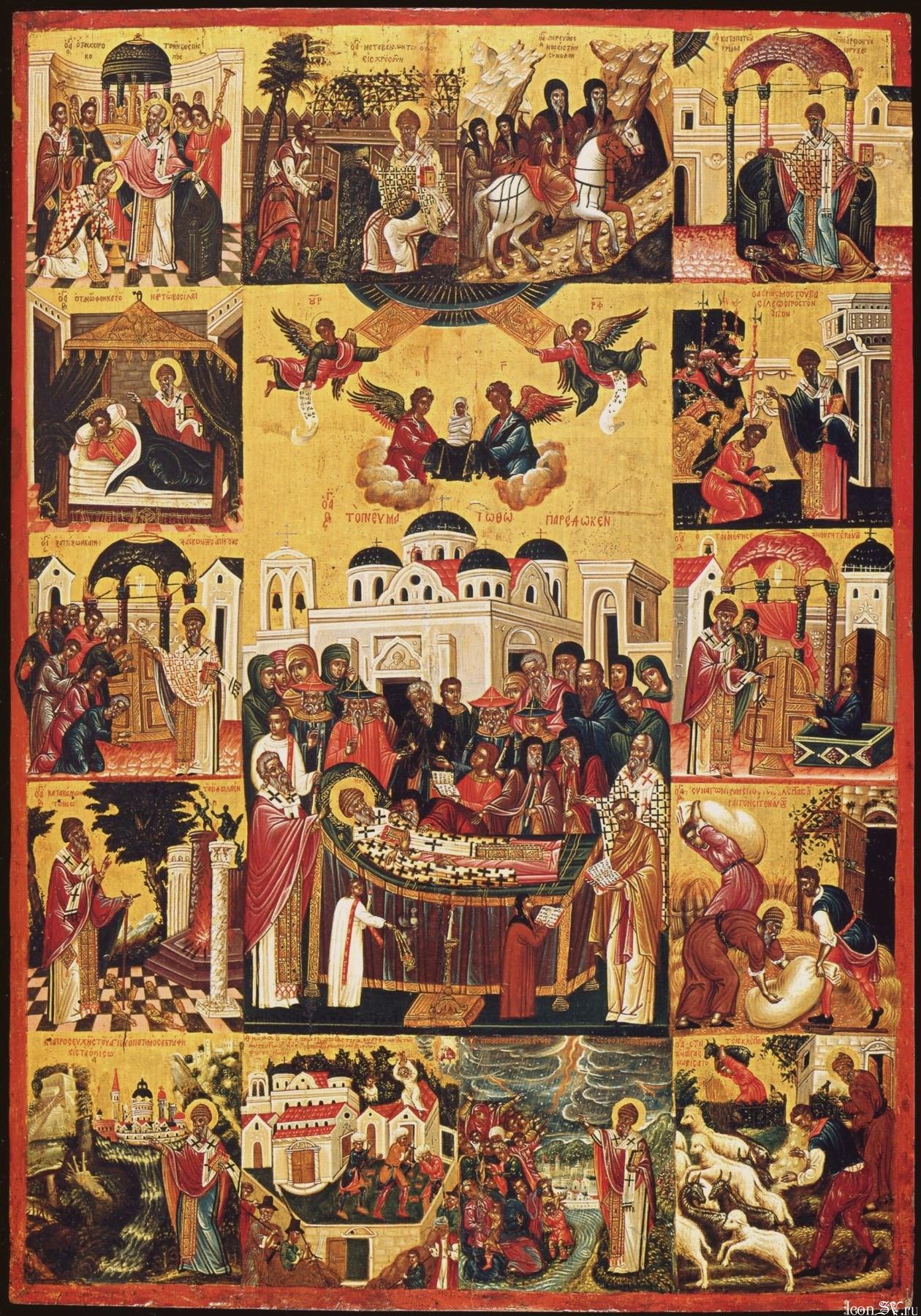 святой спиридон икона: