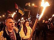 Улицами города прошло факельное шествие